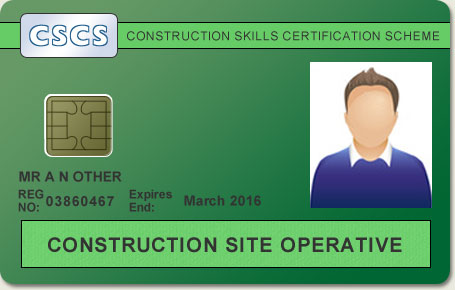 New style green construction skills certification scheme cscs card